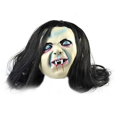 voordelige Grappige Gadgets-blauwe ogen, lang haar ghost rubberen masker voor cosplay / Halloween kostuum partij