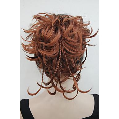 Com Presilha Ondulado Natural Rabos-de-Cavalo Sintético Pedaço de cabelo Alongamento 8 polegadas