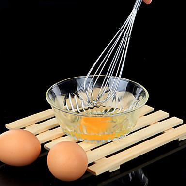 manual de aço inoxidável eggbeater