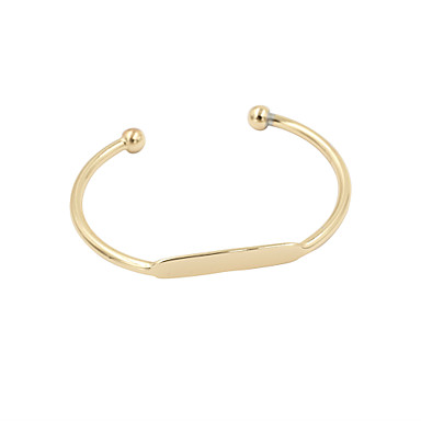 Dames Cuff armbanden Legering Sieraden Bruiloft Feest Dagelijks Causaal Sport Kostuum juwelen Zilver Gouden