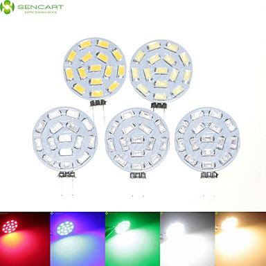Недорогие Светодиодные электролампы-SENCART 5 шт. 7 W Точечное LED освещение 700-900 lm G4 MR11 15 Светодиодные бусины SMD 5630 Диммируемая Тёплый белый Естественный белый Красный 12 V 24 V 9-30 V / RoHs