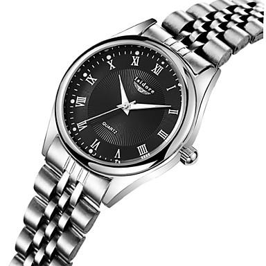 Mulheres Relógio de Moda Relógio Casual Quartzo Impermeável Aço Inoxidável Banda Prata