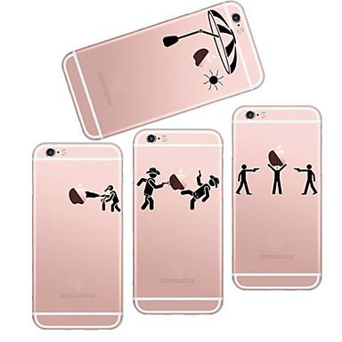 maycari®playing jogos TPU volta caso soft transparente para o iPhone 6 6s / iphone (cores sortidas)