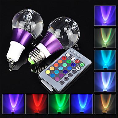 1pc e27 gu10 3w rgb 16 kleuren met 24 toetsen reomote controller led lamp