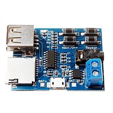 módulo amplificador decodificador bordo cartão tf u disco mp3 formato de decodificação de áudio player