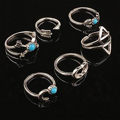 Feminino Anéis Meio Dedo Personalizado Ocasiões Especiais Turquesa Liga Jóias Para Casamento Festa Diário Casual