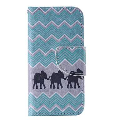 iphone 7 mais elefante pintado caixa preta do telefone pu para o iphone 6s 6 mais SE 5s 5c 5 4s 4