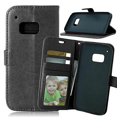 Capinha Para HTC Capinha HTC Porta-Cartão Carteira Com Suporte Flip Côr Sólida Rígida para