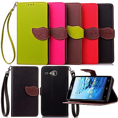 Voor Acer hoesje Portemonnee / Kaarthouder / met standaard / Flip hoesje Volledige behuizing hoesje Effen kleur Hard PU-leer voor Acer