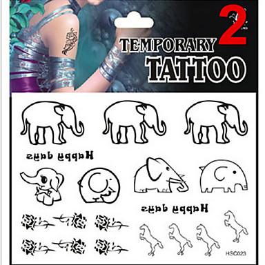 Séries de Jóias / Séries Animal / Séries Flores / Séries Totem / Outros - JT - Tatuagem Adesiva -Non Toxic / Estampado / Purpurina /