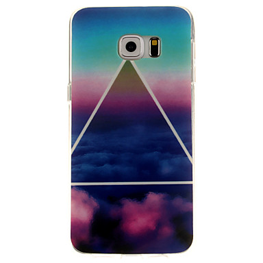 Para Samsung Galaxy Capinhas Estampada Capinha Capa Traseira Capinha Cenário TPU Samsung S6 edge plus / S6 edge / S6
