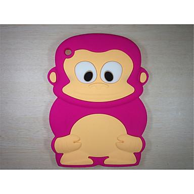 aap model schokbestendig deksel schattige rubber siliconen case voor de iPad mini 3/2/1 (assorti kleur)
