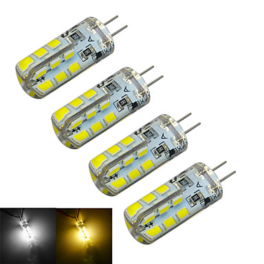 g4 led bi-pin lights t 24 smd 2835 126 ~ 150lm branco quente branco frio 3000 ~ 3200k / 6000 ~ 6500k decorativo dc 12v