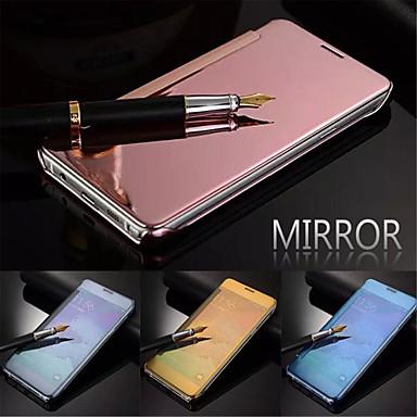 Para Samsung Galaxy Capinhas Hibernação/Ligar Automático / Espelho / Flip Capinha Corpo Inteiro Capinha Cor Única PC Samsung S5