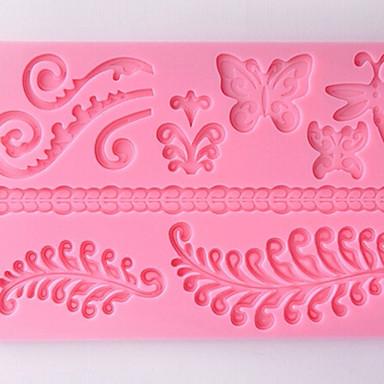 diy siliconen flower cakevorm chocoladevorm bakvorm (willekeurige kleur)