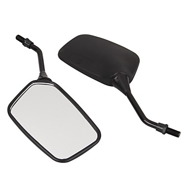 lado par moto motocicleta espelho retrovisor 10 milímetros preto