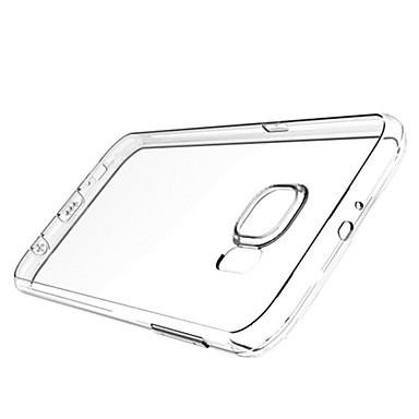 Кейс для Назначение SSamsung Galaxy Кейс для  Samsung Galaxy Прозрачный Кейс на заднюю панель Сплошной цвет ТПУ для S6