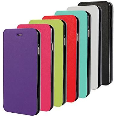 Capinha Para Apple iPhone 6 iPhone 6 Plus Flip Ultra-Fina Capa Proteção Completa Côr Sólida Rígida PU Leather para iPhone 6s Plus iPhone