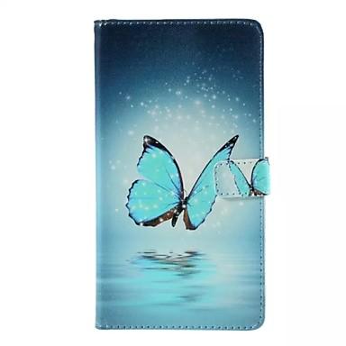 Para Samsung Galaxy Capinhas Carteira / Porta-Cartão / Com Suporte / Flip Capinha Corpo Inteiro Capinha Borboleta Couro PU SamsungJ7 / J5