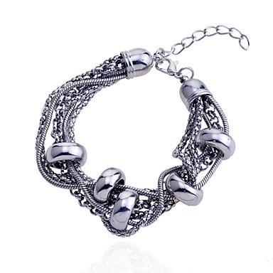 Dames Strand Armbanden Meerlaags Verzilverd Zilver Sieraden Voor Feest Dagelijks Causaal 1 stuks