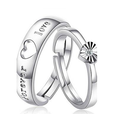 Heren Dames Voor Stel Ringen voor stelletjes Kostuum juwelen Sterling zilver Sieraden Voor Bruiloft Feest Dagelijks