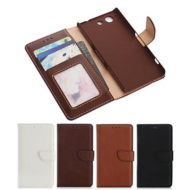 piele PU caz corp plin cu slot pentru card și portofel și să stea pentru Sony Xperia Z3 compact mini / Z3