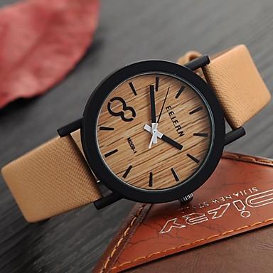 83f81f308751 abordables Relojes de Hombre-Hombre Reloj de Pulsera Cuarzo Cuero Sintético  Acolchado Negro   Marrón