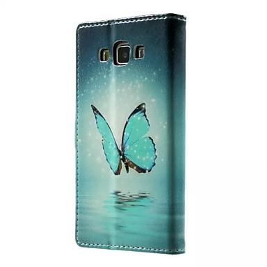 Para Samsung Galaxy Capinhas Porta-Cartão / Com Suporte / Flip / Magnética / Estampada Capinha Corpo Inteiro Capinha Borboleta Couro PU