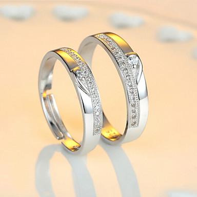 ieftine Inele-Pentru cupluri Inele Cuplu / Eternity Ring Zirconiu Cubic 2pcs Plastic femei / Bling bling Nuntă / Petrecere / Zilnic Costum de bijuterii