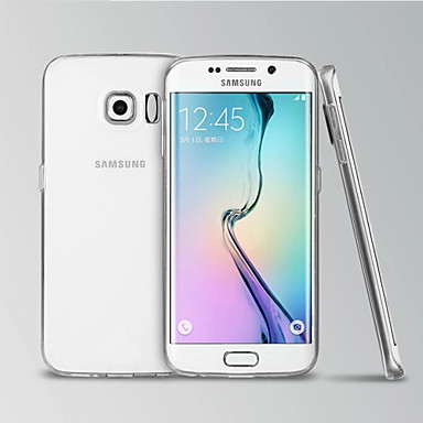 Недорогие Чехлы и кейсы для Galaxy S6 Edge-Кейс для Назначение SSamsung Galaxy S6 edge Прозрачный Кейс на заднюю панель Однотонный ТПУ
