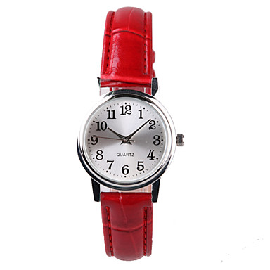 Dames Modieus horloge Kwarts Waterbestendig PU Band Rood