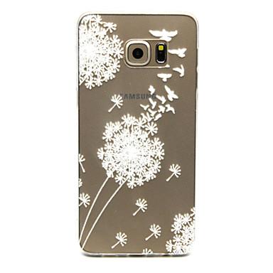 Кейс для Назначение SSamsung Galaxy Кейс для  Samsung Galaxy Прозрачный Кейс на заднюю панель одуванчик ТПУ для S6 edge plus S6 edge S6