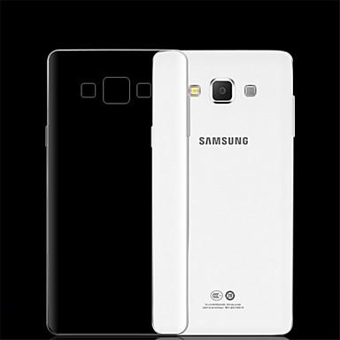 Недорогие Чехлы и кейсы для Galaxy A5-Кейс для Назначение SSamsung Galaxy A7(2016) / A5(2016) / A3(2016) Прозрачный Кейс на заднюю панель Однотонный ПК