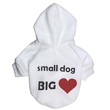 Câine Hanorace cu Glugă Îmbrăcăminte Câini Casul/Zilnic Literă & Număr Alb Negru Costume Pentru animale de companie