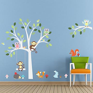 Dieren / Botanisch / Cartoon / Romantiek / Mode / Feest / Landschap / Vormen / Fantasie Wall Stickers Vliegtuig Muurstickers , PVC90cm x