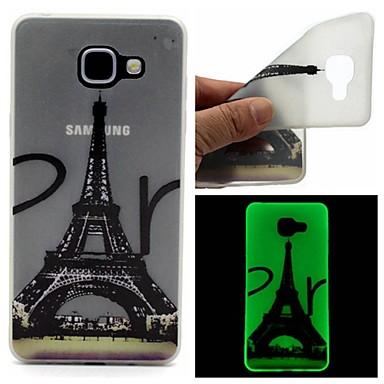 Voor Samsung Galaxy hoesje Glow in the dark / Mat / Doorzichtig / Patroon hoesje Achterkantje hoesje Eiffeltoren TPU SamsungA7(2016) /