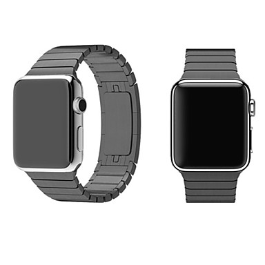 Horlogeband voor Apple Watch Series 3 / 2 / 1 Apple Polsband Butterfly Buckle Metaal Roestvrij staal