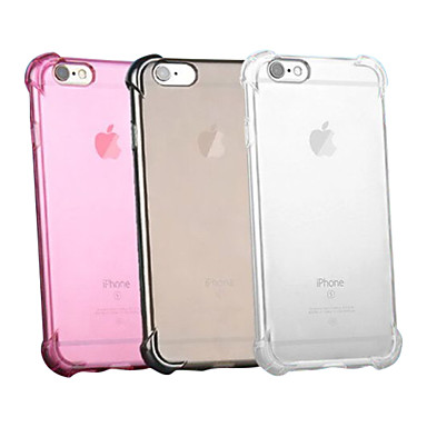 voordelige iPhone 7 hoesjes-hoesje Voor Apple iPhone XS / iPhone XR / iPhone XS Max Schokbestendig / Transparant Achterkant Effen Zacht Siliconen