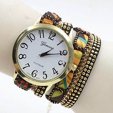 Dames Modieus horloge Armbandhorloge Kwarts Stof Band Zwart Blauw Rood Paars 2 # # 3 # 4 5 # 6 #