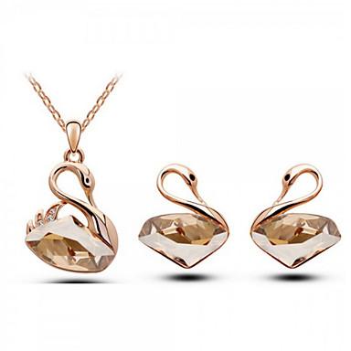 Dames Kostuum juwelen Kristal Kettingen Oorbellen Voor Bruiloft Feest Dagelijks Causaal Giften van het Huwelijk