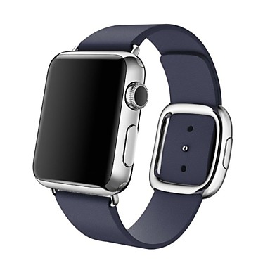 Horlogeband voor Apple Watch Series 3 / 2 / 1 Apple Polsband Moderne gesp Echt leer
