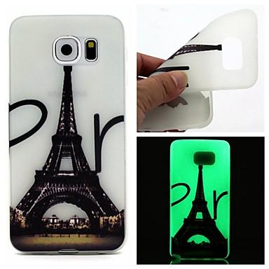 Voor Samsung Galaxy hoesje Glow in the dark hoesje Achterkantje hoesje Eiffeltoren TPU Samsung S7