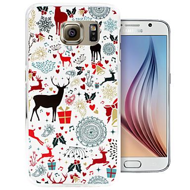 vrolijke kerst patroon pc Cover Case voor Samsung Galaxy S6 / S6 rand
