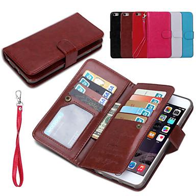 pu δέρμα 2 σε 1 αποσπώμενα περιπτώσεις κινητό και το πίσω κάλυμμα προστατευτικό κέλυφος με το πορτοφόλι 9 υποδοχή κάρτας για το iphone 6s