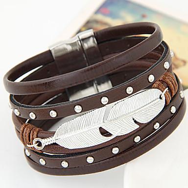 Lederen armbanden Gepersonaliseerde Uniek ontwerp Vintage Schattig Feest Werk Informeel Modieus Europees Leder Legering Anderen Veer