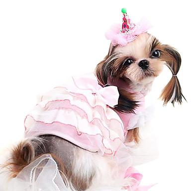 Cachorro Fantasias Roupa Vestidos Roupas para Cães Fantasias Fashion Dia Das Bruxas Riscas Desenho Animado Cinzento Amarelo Ocasiões