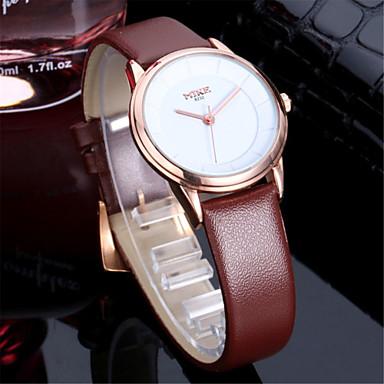 Masculino Mulheres Casal Relógio de Moda Quartzo Couro Banda Prata Dourada Branco Preto Dourado