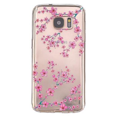 hoesje Voor Samsung Galaxy Samsung Galaxy S7 Edge Reliëfopdruk Achterkant Bloem TPU voor S7 edge S7