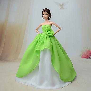 Feest/Avond Jurken Voor Barbiepop Kant Organza Kleding Voor voor meisjes Speelgoedpop