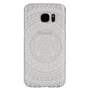 Para Samsung Galaxy S7 Edge Case Tampa Áspero Transparente Capa Traseira Capinha Mandala PC para Samsung S7 Active S7 plus S7 edge plus